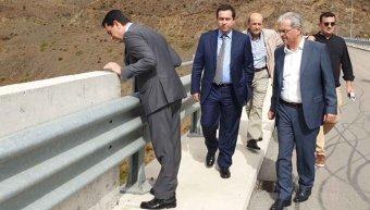 Από παλαιότερη επίσκεψη στο φράγμα με τον υφυπουργό Αγρ. Ανάπτυξης Κ. Σκρέκα