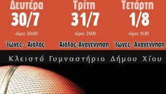 Τουρνουά μπάσκετ Παίδων Βορειοανατολικού Αιγαίου διοργανώνουν οι Ίωνες