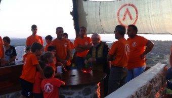 Αγιασμός στο πυροφυλάκιο της εθελοντικής ομάδας Λιθίου