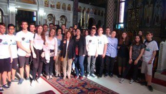 Οι μαθητές στον Αγιο Χαράλαμπο