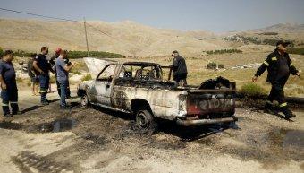 Ολοσχερώς καταστράφηκε αυτοκίνητο από πυρκαγιά στην περιοχή του Θόλους