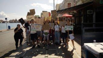 Η πρώτη διαμαρτυρία των χιωτών μαθητών για το κλίμα το Σάββατο 5 Οκτωβρίου 2019