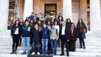Οι μαθητές των Γυμνασίων Βολισσού και Καρδαμύλων στην Βουλή