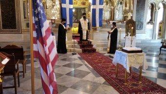 Αρχιερατικό μνημόσυνο για τα θύματα της 11ης Σεπτεμβρίου 2001 στη Μητρόπολη Χίου