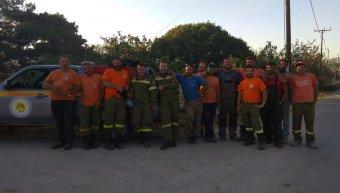 Η ομάδα Ι στην χθεσινή πυρκαγιά