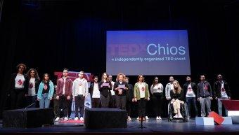 Η ομάδα πρωτοβουλίας για την οδική ασφάλεια στη σκηνή του TEDx Chios