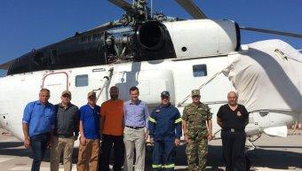 Επίσκεψη στο Πυροσβεστικό ελικόπτερο