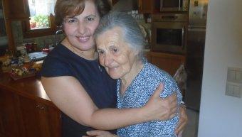 Η Χρ. Καλογήρου με την μητέρα της