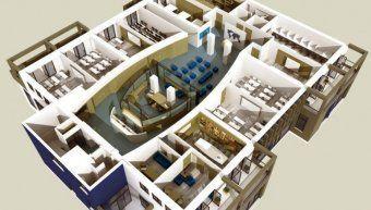 Η μακέτα του κτιρίου του νέου ναυτικού Λυκείου