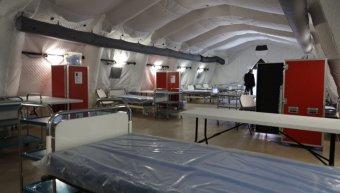 Η υγειονομική Μονάδα, δυναμικότητας 44 κλινών, που έστησαν οι Ολλανδοί στην Μόρια, πριν το... κάψιμο της