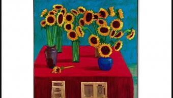 hockney-30-sunflowers