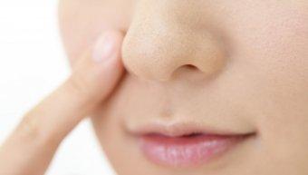 μύτη, χείλη, δάχτυλο