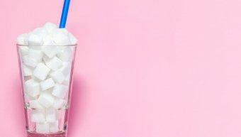 ποτήρι, νερό, ζάχαρη