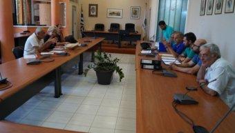 Σύσκεψη στην Αίθουσα του Δημοτικού Συμβουλίου