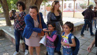 Υποδοχή των παιδιών από την Εισαγγελέα Σπυριδούλα Σταυράτη
