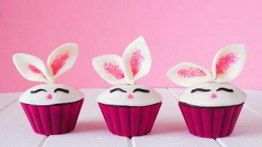 cupcakes, χαρούμενα λαγουδάκια
