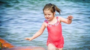 παιδί, κορίτσι, θάλασσα, παιχνίδι