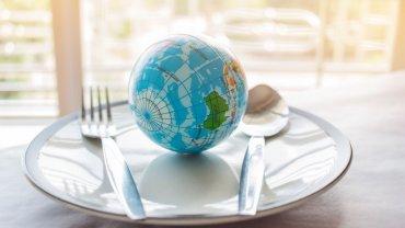 γη, πιάτο, μαχαιροπίρουνα