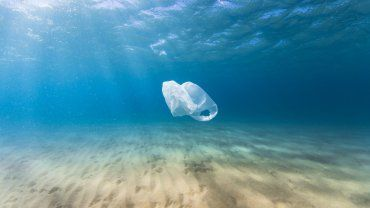 Πλαστική σακούλα στον ωκεανό
