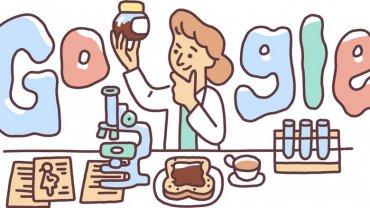 το doodle της Google με αφορμή τη συμπλήρωση 131 χρόνων της Lucy Wills
