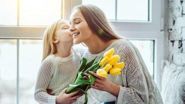 μητέρα, παιδί, τουλίπες, Γιορτή της μητέρας
