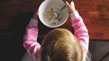 παιδί, πρωινό, κορνφλέικς