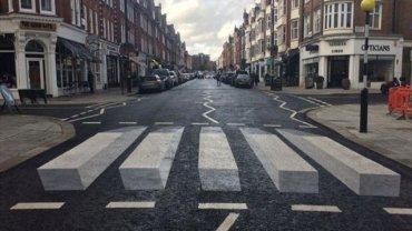 η πρώτη τρισδιάστατη διάβαση πεζών στην St John's Wood High Street, Λονδίνο