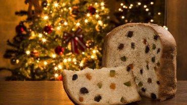 Χριστουγεννιάτικο κέικ panettone