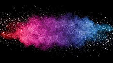 χρώματα, ροζ, μοβ, γαλάζιο, μπλε