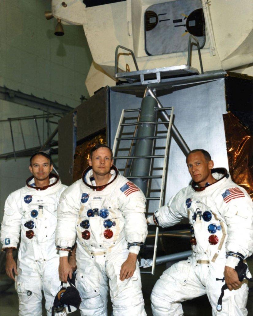 Οι τρεις αστροναύτες Neil Armstrong, Michael Collins και Edwin «Buzz» Aldrin Jr.