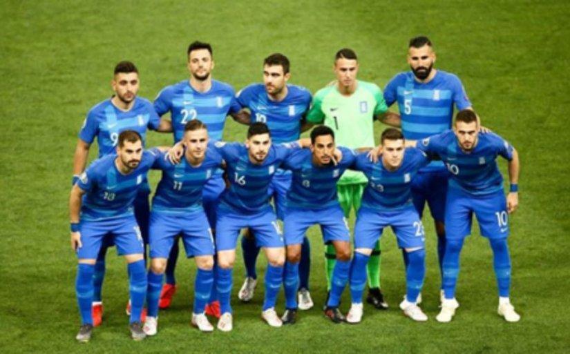 Η Εθνική Ελλάδος στο ποδόσφαιρο όπως παρατάχθηκε με την Εθνική Αρμενίας