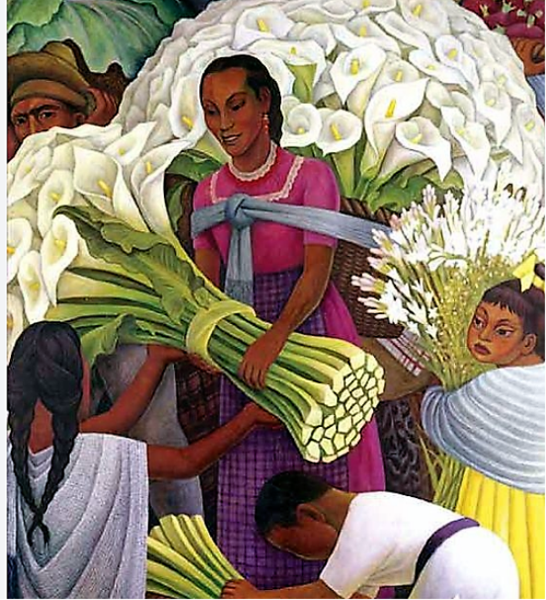 Diego Rivera: «The flower seller»