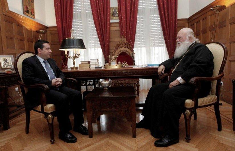 Ν. Μηταράκης, Αρχιεπίσκοπος κ. Ιερώνυμος