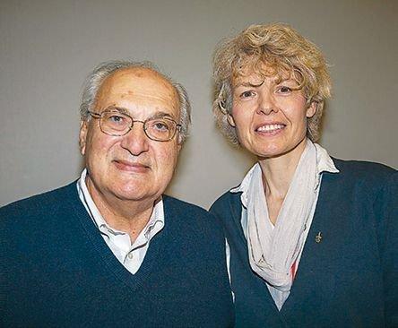 Ο Μ. Μόσχος με την κάτοχο της έδρας Κοραή, Γκόντα Φαν Στιν.
