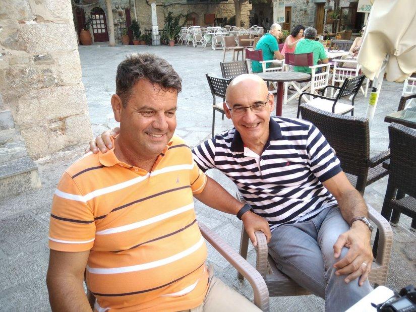 Ο Χρήστος Δρίβας αριστερά και ο Φιλίπ Ποντιές δεξιά