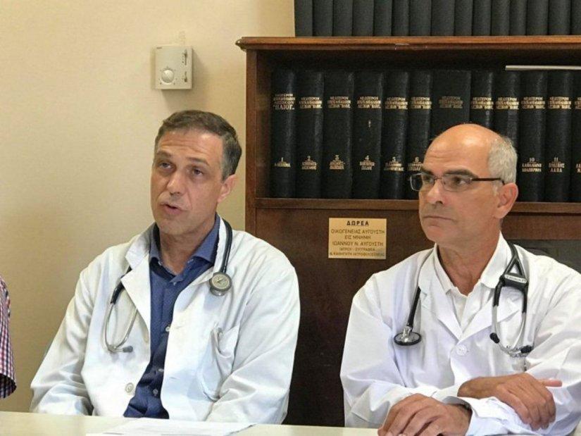 Ο Θανάσης Καρτάλης αριστερά και ο Νίκος Σμυρνιούδης δεξιά