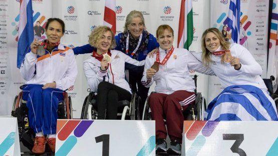 Η Κέλλυ Λουφάκη κατέκτησε την 3η θέση και το χάλκινο μετάλλιο στη σπάθη της κατηγορίας Β' στο Παγκόσμιο Κύπελλο Ξιφασκίας με αμαξίδιο