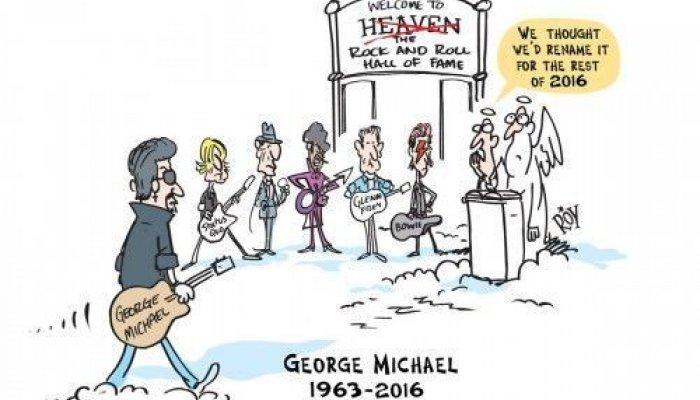 Αγαπημένοι καλλιτέχνες που έφυγαν από τη ζωή το 2016 υποδέχονται τον George Michael στον Παράδεισο