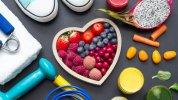 φρούτα, καρδιά, γυμναστική, υγιεινή διατροφή