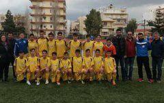 Η Μεικτή Παίδων της ΕΠΣ Χίου μετά το παιχνίδι με τη Λέσβο