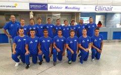 Η Εθνική πόλο Παίδων που πήρε την 4η θέση στο τουρνουά του Βελιγραδίου