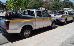 Τα δύο πρώτα φορτηγάκια