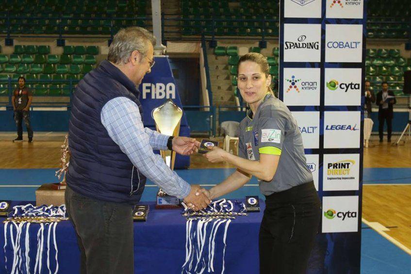 Με επιτυχία η Βάσω Τσαρούχα στον τελικό του Κυπέλλου Κύπρου στο μπάσκετ ανδρών