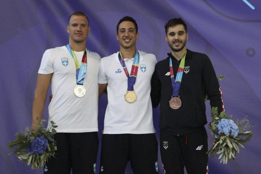 Πρώτο χρυσό και μεσογειακό ρεκόρ για τον Γιάννη Πιπινιά στα 50 μ. άπνοη στους 2ους Μεσογειακούς Παράκτιους Αγώνες