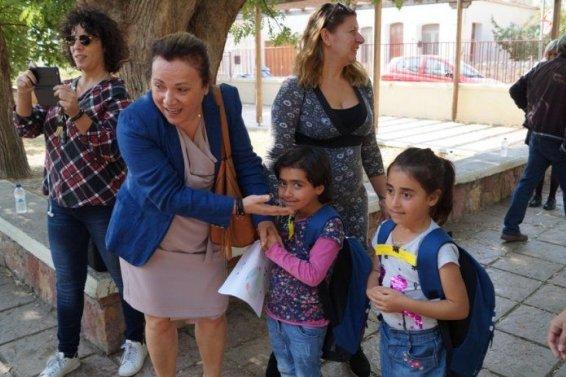 Από την περσινή υποδοχή των παιδιών. Στην φωτογραφία η Εισαγγελέας Χίου.
