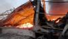 Στιγμιότυπο από την εκδήλωση της πυρκαγιάς, πέρυσι, στις εγκαταστάσεις της ΕΑΣ Αργολίδας - ΡΕΑ.