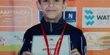 Ο Κοσμάς-Μάρκελλος Παπαλεωνίδας κατέκτησε δύο χρυσά μετάλλια σε ισάριθμα αγωνίσματα που συμμετείχε στη διοργάνωση του Ολυμπιακού.