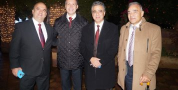Από αριστερά, Αντ. Ζερβάκης, Θεμ. Γρυμπίρης, Στ. Κάρμαντζης, Γιάν. Ξενάκης