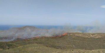 Μεγάλη φωτιά στα Ψαρά το Σάββατο 6 Ιουνίου 2020