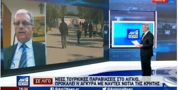 Ο Παντελής Μπουγδάνος στο δελτίο ειδήσεων του ΑΝΤ1 για το προσφυγικό